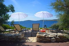 Private island, a lighthouse with a pool, a jet ski, a private butler and even a boat with a skipper ready to whisk you over the Adriatic Sea M Restaurant, Croatian Islands, Adriatic Sea, Jacuzzi, Lighthouse, Villa, Patio, Luxury, Outdoor Decor