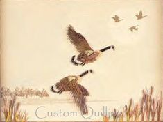 "Lake City Canadian Geese Kit @ www.CustomQuilling.com - This kit includes detail instructions for making two layered Canadian Geese, cattails, ample paper to finish the project. The 9x12"" printed marsh scene background is included. What a great gift this would make for the man in your life!"