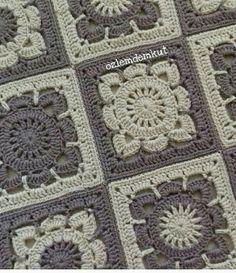 Transcendent Crochet a Solid Granny Square Ideas. Inconceivable Crochet a Solid Granny Square Ideas. Crochet Blocks, Granny Square Crochet Pattern, Afghan Crochet Patterns, Crochet Squares, Crochet Granny, Crochet Motif, Crochet Stitches, Knit Crochet, Granny Squares