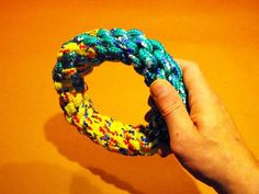 DIY Rope Dog Toy- another toy that would be safer for heavy duty chewers than simply braiding