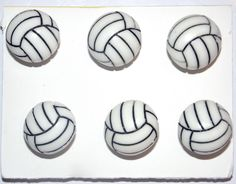 VOLLEYBALL SPORT 6 pc Handmade Decorative Bulletin Board Push Pin Thumb Tacks by CandCCraftSupplies on Etsy