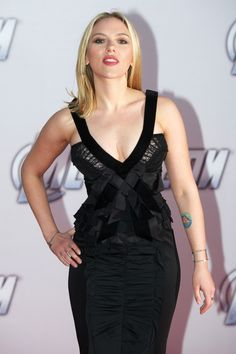 Scarlett Johansson wearing Nina Ricci at the Moscow premiere of The Avengers, April 18th