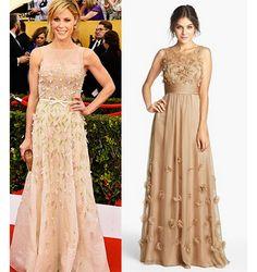 Find a dress similar the the beautiful Julie Bowen. #SAGawards2015 Get The Look: SAG Awards 2015 | https://blog.strongbark.com/get-look-sag-awards-2015/?utm_source=Pinterest&utm_medium=SocialMedia&utm_campaign=sagawards