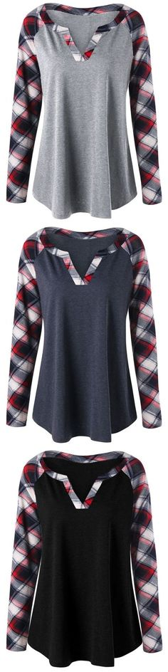 Would be a fairly easy Refashion Size Plaid Raglan Sleeve Top New Outfits, Fall Outfits, Fashion Outfits, Fashion Ideas, Pretty Outfits, Cute Outfits, Diy Couture, Raglan, Sewing Clothes