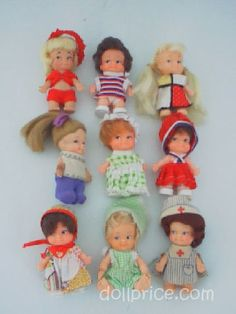 Cece and I actually enjoyed our Uneeda Pee Wee dolls more than our Wishniks.