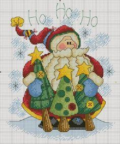 Aún es tiempo de bordar algunos pequeños presentes para nuestros amigos , y el resto esperarán....Pinos de navidad, viejos pascueros- sant...