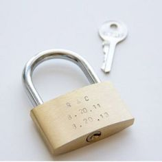 Lock in your love with hardware diy anniversary gifts for him (this is a tradition in Paris <3)