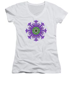 Our women's v-necks are made from 100% pre-shrunk cotton and are available in five different sizes. All women's v-necks are machine washable. SHIPS WITHIN: 1-2 business days. Designs are available on Men's T-Shirts (Athletic, Regular, Premium, V-Neck), Women's T-Shirts (Athletic, Standard, V-Neck), Sweatshirts, Heathers T-Shirts, Long Sleeves, Baseball, Tank Tops, Youth, Kids, Toddler, and Baby Onesies #apparel #TShirts #reiki #flowers #geometric #patterns #kaleidoscopes #mandalas #abstract
