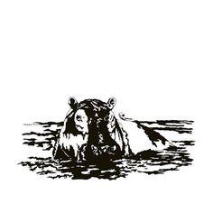 Bathing Hippo. Letter H. #AwesomeA-Z #art #hippo #animalart #artcommission #wildlife #nature #penart #artist #artchallenge #art🎨 #artstagram #newart #happy #monday #dailyart #daily #animalart #awesomeanimalart #awesome