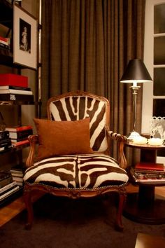 Reading nook for the gentleman - Scott Meacham Woods, loe animal prints