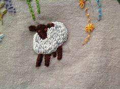 bullion stitch sheep!                                                                                                                                                      More