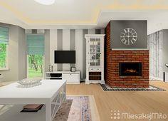 Ściana z TV Home Decor, Decoration Home, Room Decor, Interior Design, Home Interiors, Interior Decorating