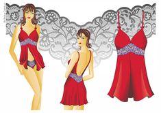 3 Lingerie digital illustrations by Paola Castillo