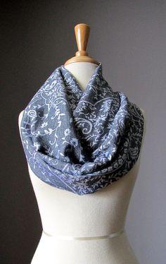 Heather grey scarf pashmina  delicate paisley scarf gray