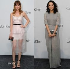 Dakota Johnson and Zhang Ziyi attended an event hosted by Calvin Klein in Singapore, to celebrate the brand.
