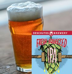 Deschutes' Fresh Squeezed IPA clone drips with citrus and grapefruit flavor thanks to the Citra hops, while the Mosaic hops present soft, fruit flavors. Brewing Recipes, Homebrew Recipes, Beer Recipes, Clone Recipe, Home Brewing Beer, German Beer, Beer Tasting, How To Make Beer, Wine And Beer