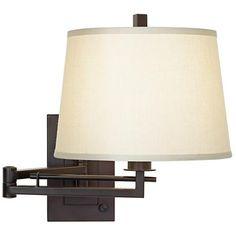 Easley Matte Bronze Plug-In Swing Arm Wall Light. On sale $59 thru 1/24.