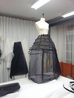 Structure Robe Crinoline Haute Couture Stéphane Maheas  https://www.facebook.com/stephanemaheascouture/