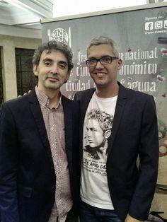 Junto al director de cine David Pinillos (Bon Appetit, España, 2010) en el Festival Internacional de Cine Gastronómico de La Laguna.