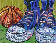 Laura Benjamin - Still Life Sneakers - - Part Of Candy Wrapper Collage Series Pop Art Collage Making, Collage Art, Art Collages, Sneaker Candy, High School Art Projects, Plastic Art, Candy Wrappers, Shoe Art, Art Shoes