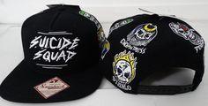 Suicide Squad Full Color Omni Harley Joker Deadshot DC Comics Snap Back Hat Nwt #SuicideSquad #SnapBack