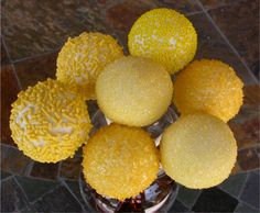 Wedding Cake Pops  Lemon Yellow Wedding by SimplyDivineDesserts, $56.40