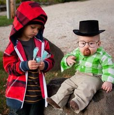 Walter White and Jesse Pinkman | 22 Amazing Kids' Halloween Costumes That They're Too Young To Understand