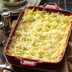 Chive & Onion Hash Brown Potatoes Recipe -A friend once told me about a potato dish her mother used to make. She remembered that Swiss cheese and butter were standouts. Here's my re-creation. She actually liked it better than her mom's version. —Barb Templin, Norwood, MN