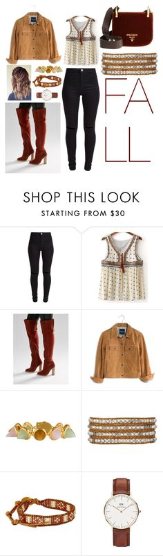 """""""Fall essential"""" by noah0421 ❤ liked on Polyvore featuring New Look, ASOS, Madewell, Eddie Borgo, Chan Luu and Daniel Wellington"""