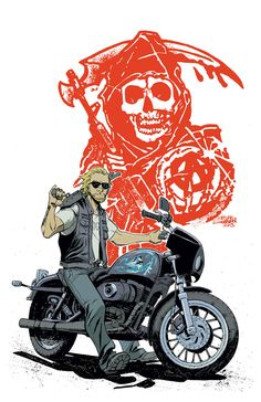 My cover for Sons of Anarchy#16, coming out this December 17th by Boom Studios! And check out the preview too:www.comicbookresources.com/?pa… Ed Brisson and Bergara are doing an ...