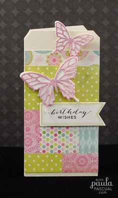 Birthday card with butterflies by Paula Pascual