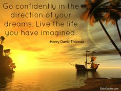 Henry David Thoreau quote about dreams