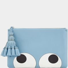 """<p style=""""margin-bottom:10px"""">Inspired by the stickers and graphics that were Anya's schoolgirl version of personalisation, we've embossed our versatile Georgiana clutch with a whimsical 'Big Eyes' graphic. Ideal for use during the day or the evening, we also like to carry ours inside a tote and leave the tassel on the outside. </p><p>Item number: 5050925872416</p>"""