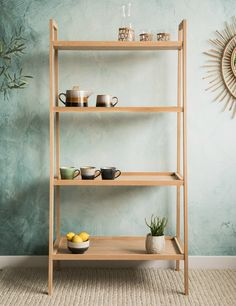 W:81cm x D:49cm x H:160cm - this measurement is taken from the bottom of the shelving unit Solid White Oak