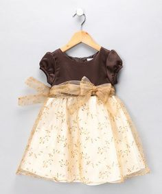 Take a look at this Gold Leaf Dress - Infant, Toddler & Girls by Nannette on #zulily today!