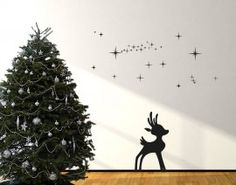 Reindeer II In Snow Wall Decal from Style and Apply