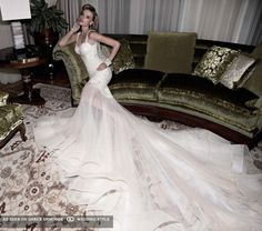 galia lahav couture wedding dress with train #GOWSRedesign