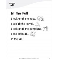 In the Fall (Sight Word 'all'): Super Sight Words Poem