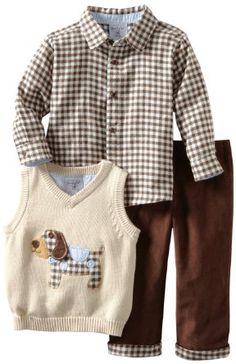 Baby Boy Christening Baptism Smart Outfit White Argyle Sleeveless Jumper 0-18 m