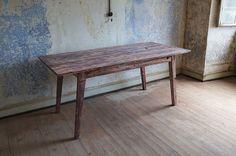 Solenn Design Tisch Knorke 02, Maße 1780 x 790 x 762 mm, traditionelle Holz-Sortierung, Brinjal