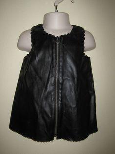 16e7e0dad HOORAY BY CYNTHIA ROWLEY BABY GIRLS BLACK FAUX LEATHER JUMPER DRESS 12M EUC