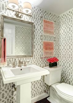 Half Bath:   Traci Zeller Designs | Charlotte Interior Decorator & Designer
