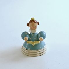 Vintage Christmas Decoration Wood Angel Figurine Italy by efinegifts on Etsy