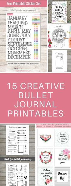 Bullet Journal Printable Spreads - Perfect for when you're too busy to draw your own layouts - just print these out and glue them in your bujo! Bullet Journal Printables, Bullet Journal Hacks, Journal Template, Bullet Journal Layout, Bullet Journals, Free Printable Stickers, Printable Planner, Free Printables, Bujo Inspiration