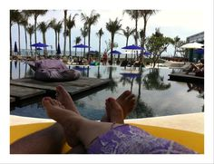 With my better half - by the pool side near the beach looking at the blue ocean. W Hotel Seminyak - Bali. Copyrights Vivi kembang Tanjoeng.