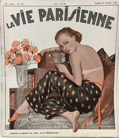 Georges Léonnec  (1881 – 1940). La Vie Parisienne, 24 Octobre 1936. [Pinned 25-x-2017]