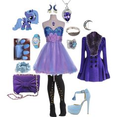"""Princess Luna Outfit"" by jindalay on Polyvore gotta love my little pony :)"