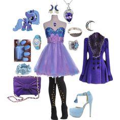 """Princess Luna Outfit"" by jindalay on Polyvore gotta love my little pony :)"