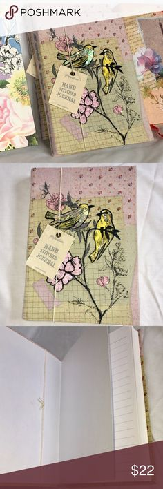 Paperchase Handstitched Journal (large rule) You'll love this beautiful Paperchase Hand Stitched Journal with flexible binding. The cloth cover has gorgeous floral design with two yellow birds sitting on a branch. 296 pages with large rule on both sides and a ribbon page marker. It's the perfect size 6 in x 8.5 in. This design is rare to find. Memorable gift, or you may decide to keep for yourself. 🦋😁 Paperchase Other