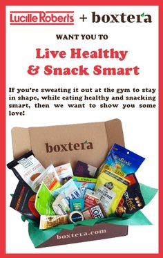 "Are you on #instagram? Show us what ""Live Healthy and Snack Smart"" means to you for a chance to win! #boxtera #contest"